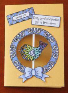 Adult Coloring Craft - Bird Card delightfulpaths.com