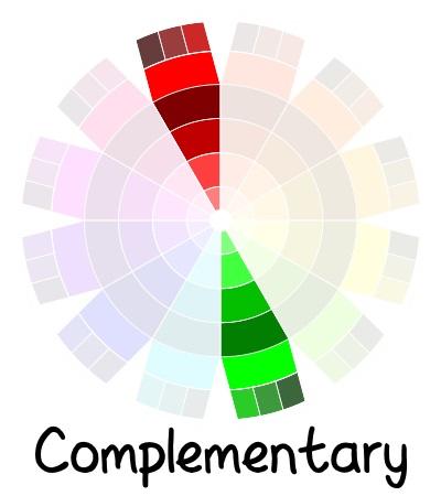 color wheel - complementary color scheme | delightfulpaths.com