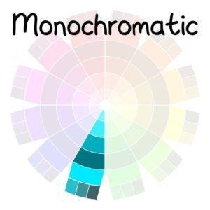 color wheel - monochromatic color scheme | delightfulpaths.com