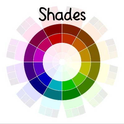 color wheel - shades | delightfulpaths.com