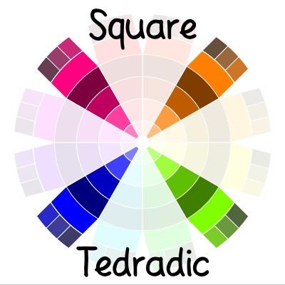 color wheel - square tedradic color scheme | delightfulpaths