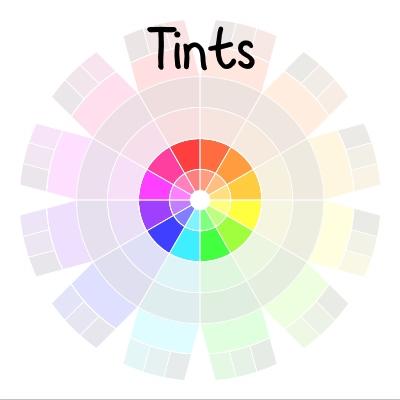 color wheel - tints | delightfulpaths.com