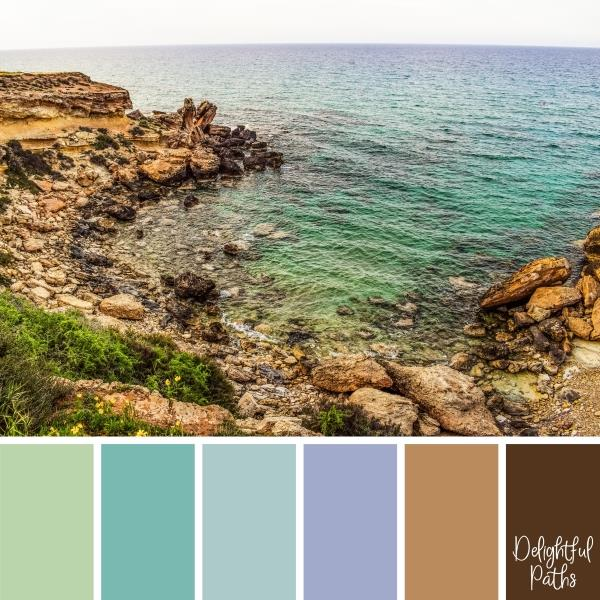 secret rocky cove Coastal Color Palette