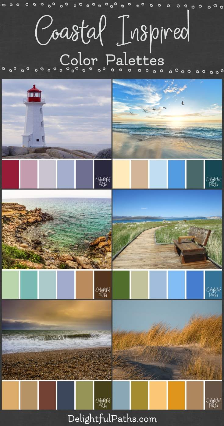 coastal inspired color palettes