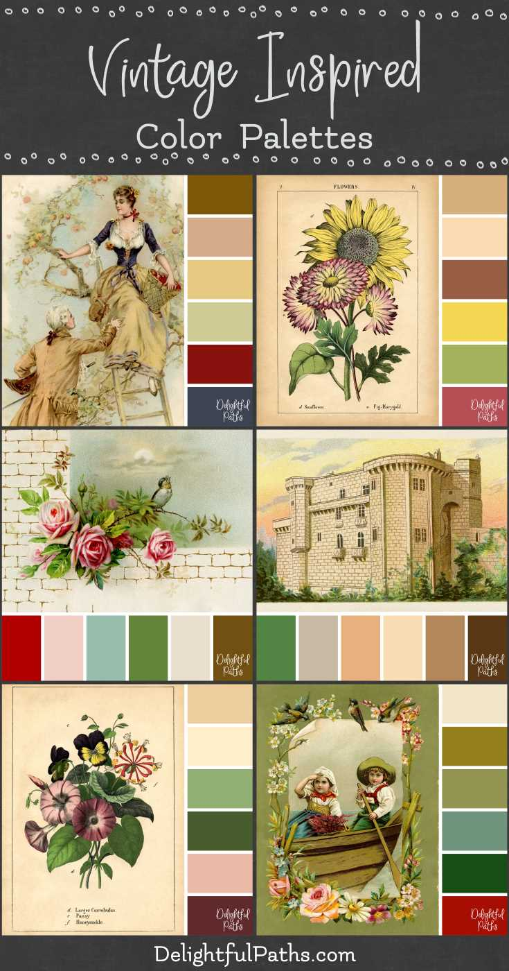 vintage inspired color palettes | DelightfulPaths.com