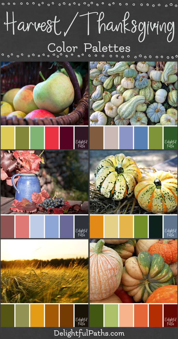 harvest thanksgiving inspired color palettes DelightfulPaths.com