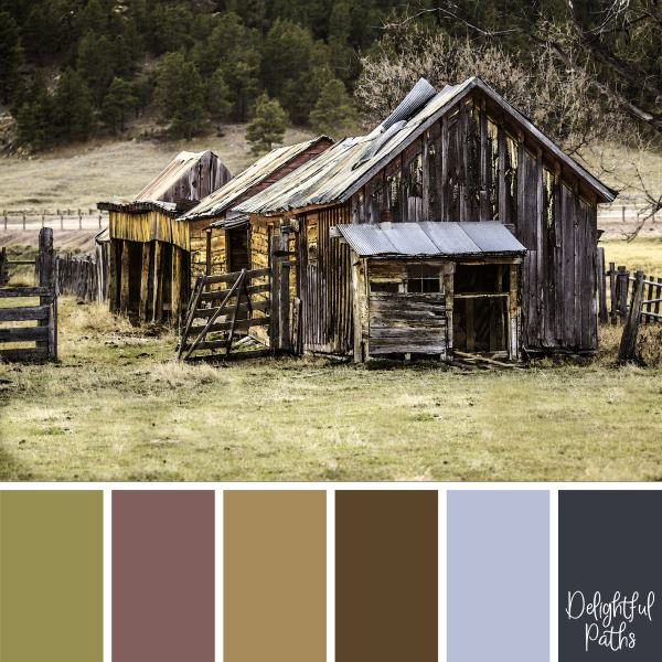 Old Weather-Beaten Buildings rustic color palette DelightfulPaths.com