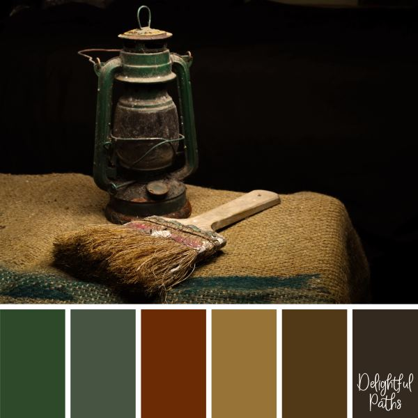 rustic color palette DelightfulPaths.com