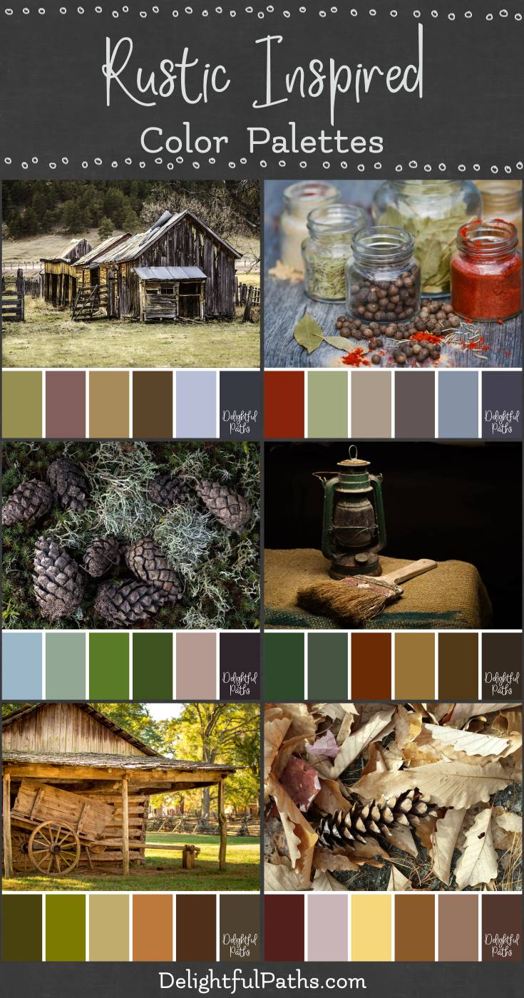 rustic inspired color palettes DelightfulPaths.com