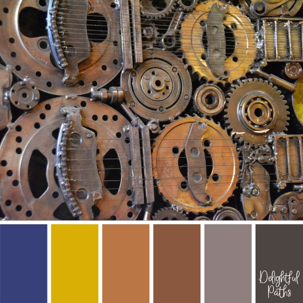 Brass Stringed Instrument steampunk color palette DelightfulPaths.com