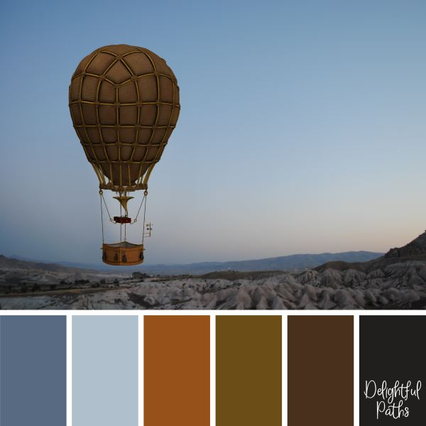 Leather Hot Air Balloon steampunk color palette DelightfulPaths.com