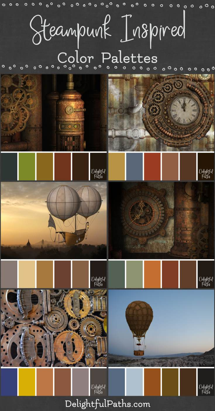steampunk picture inspired color palettes DelightfulPaths.com