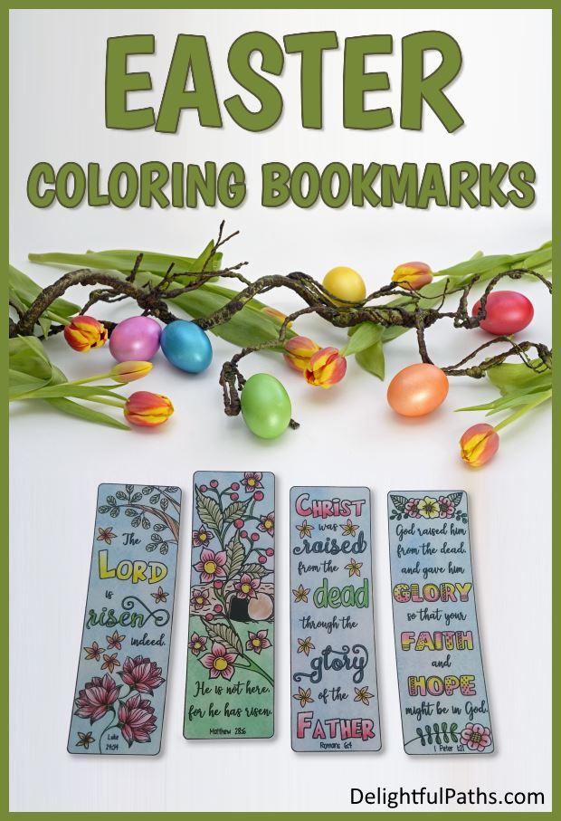 easter coloring bookmarks DelightfulPaths