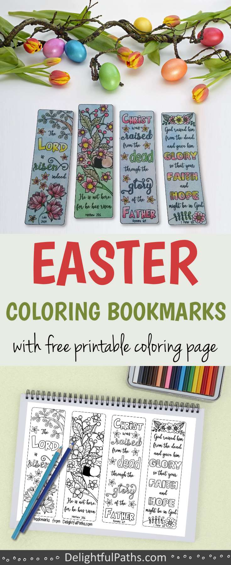image regarding Who I Am in Christ Printable Bookmark called Easter Coloring Bookmarks with Bible Verses - Tasty Paths