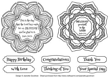 Doily Coloring Cards – Set 3