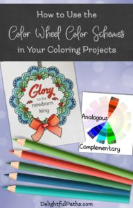 How to Use The Color Wheel Color Schemes in Your Coloring Projects | delightfulpaths.com