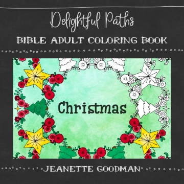 Christmas adult coloring book (Bible verses)
