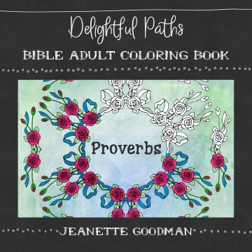 Proverbs adult coloring book (Bible verses)
