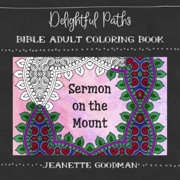 Sermon on the Mount adult coloring book (Bible verses)