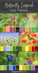 butterfly inspired color palettes | DelightfulPaths.com