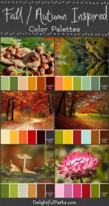 fall autumn inspired color palettes