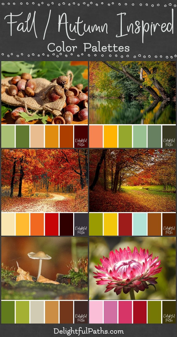 Fall Autumn Inspired Color Palettes Delightful Paths
