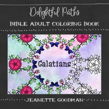 Delightful Paths Adult Bible Coloring Book – Galatians