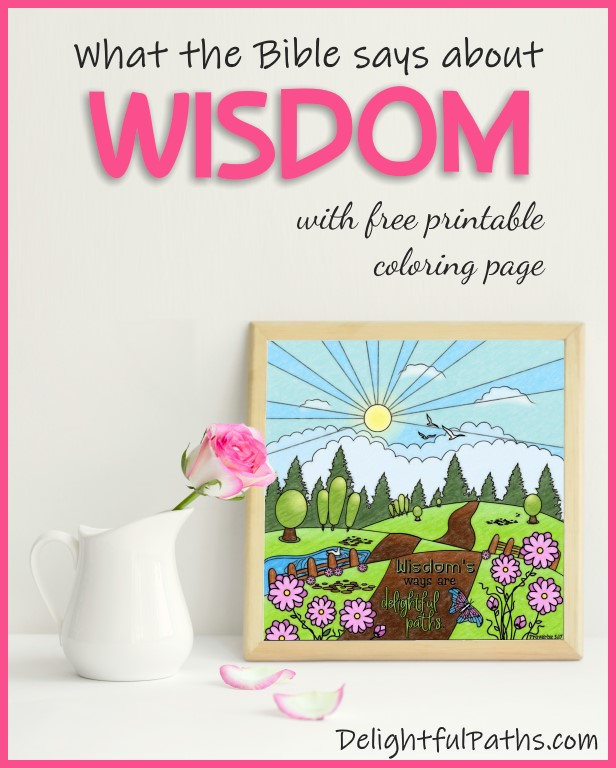 How to get godly wisdom - with free printable coloring page DelightfulPaths #coloring #coloringpages #printable