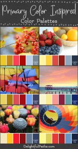 primary color inspired color palettes DelightfulPaths.com