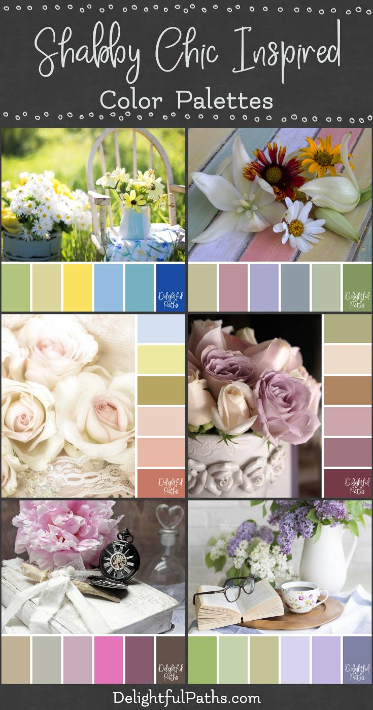 Shabby Chic Inspired Color Palettes Delightful Paths