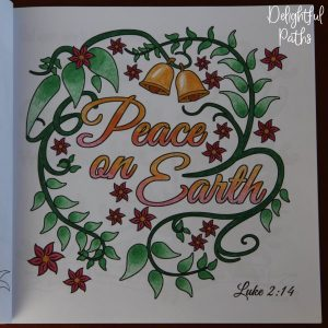 Christmas adult coloring book from Delightful Paths Luke 2-14