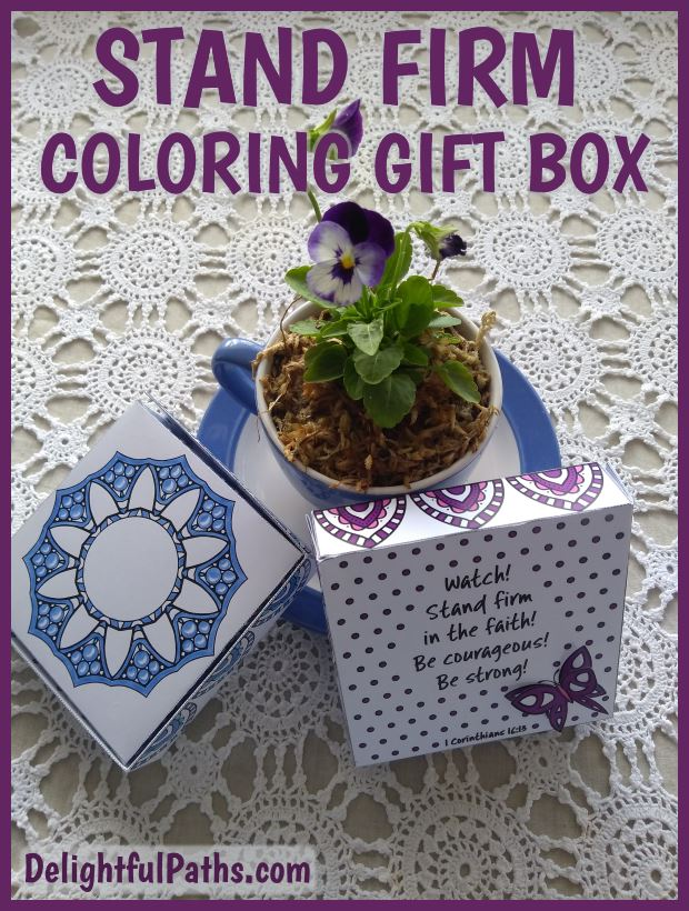 Stand Firm Coloring Craft Gift Box - DelightfulPaths