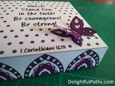 Stand Firm Coloring Craft Gift Box - attach butterfly - DelightfulPaths