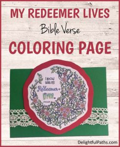 my redeemer lives coloring page job 19 with free printable DelightfulPaths