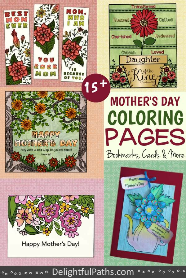 mother's day printable coloring crafts pinterest DelightfulPaths