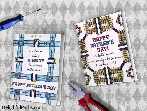 Printable Father's Day Coloring Crafts Roundup - Delightful