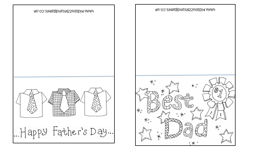 Printable Father's Day Coloring Crafts Roundup
