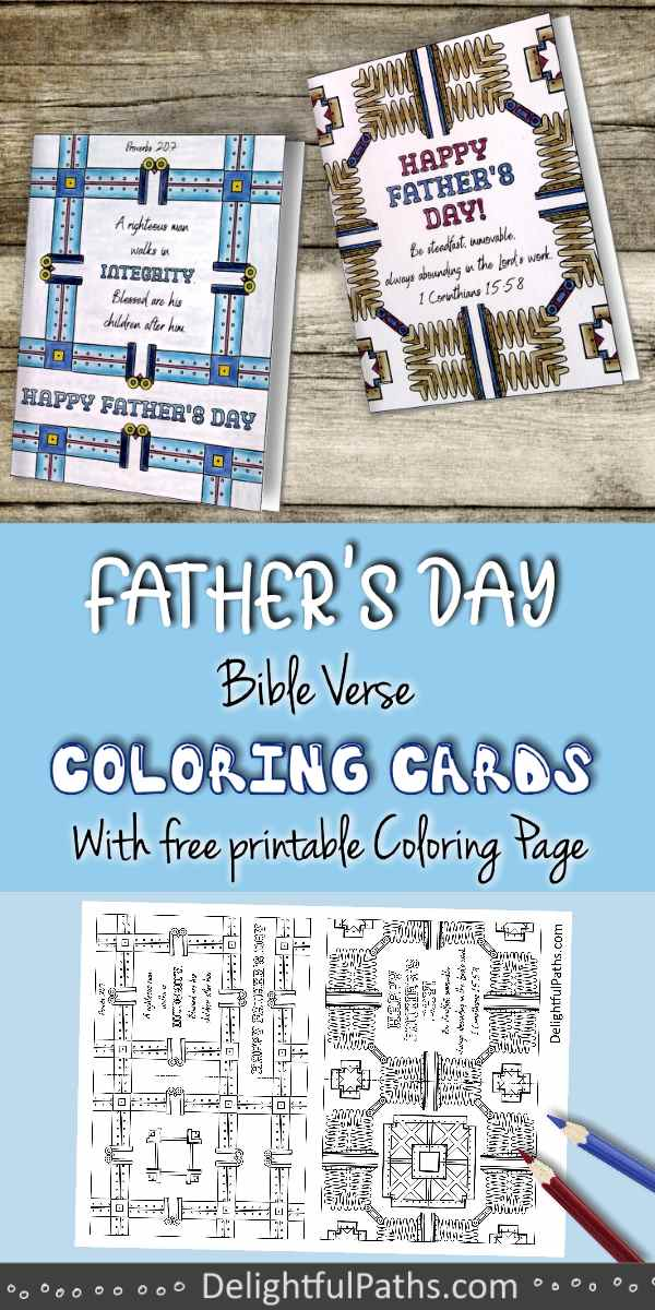 Fathers day metal pattern bible verse adult coloring printables DelightfulPaths