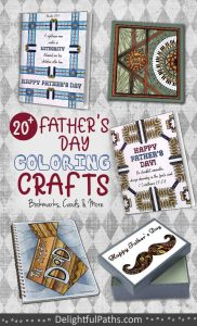 printable fathers day coloring crafts roundup DelightfulPaths