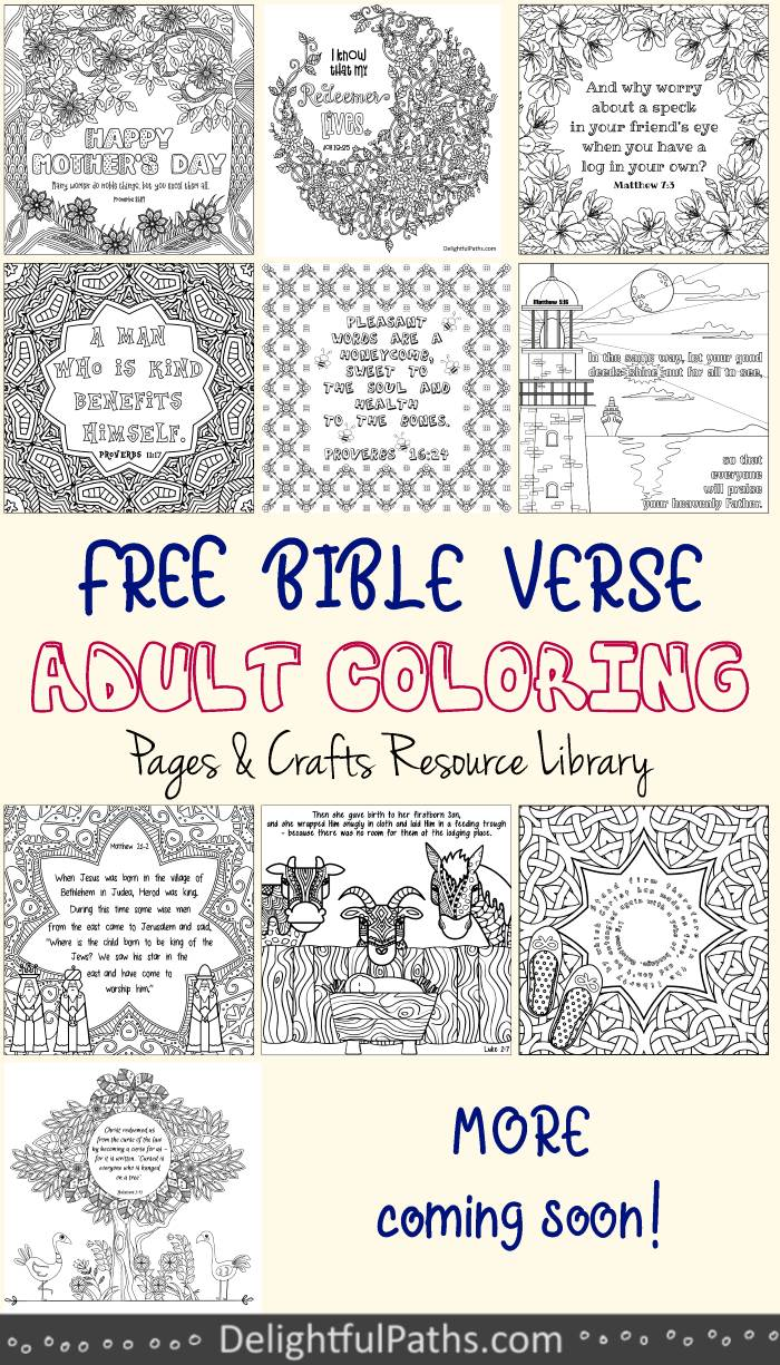 free Bible Adult Coloring Pages DelightfulPaths