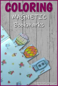 How to make DIY coloring magnetic bookmarks from printables. Click here for template and tutorial #coloringforadults #coloringpages #bookmarks #papercraft #printable