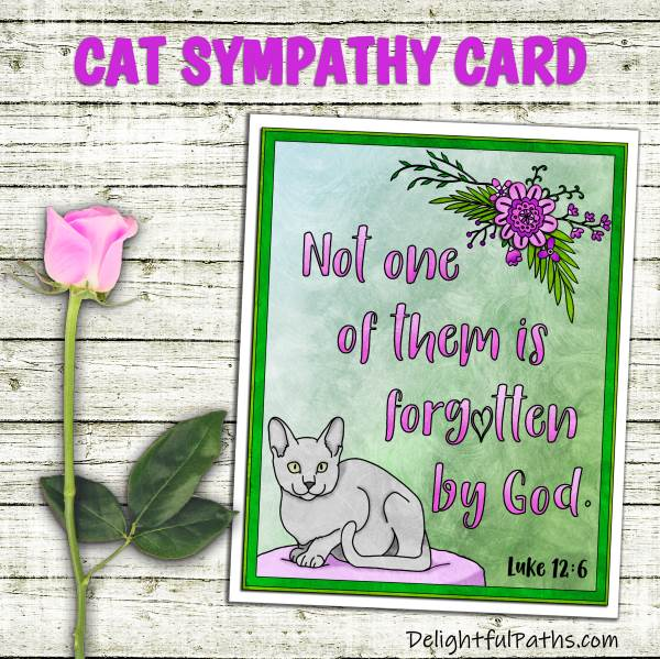 Make handmade coloring pet sympathy cards from DelightfulPaths. Click here for free printable #coloringforadults #coloringpages #papercraft #printable