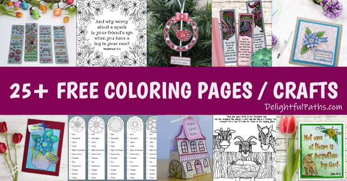 free adult coloring resource library DelightfulPaths