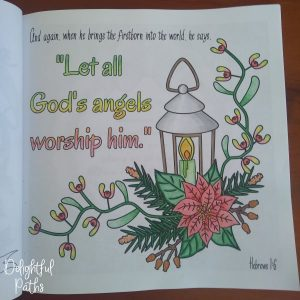 Christmas adult coloring book from Delightful Paths Hebrews 1-6