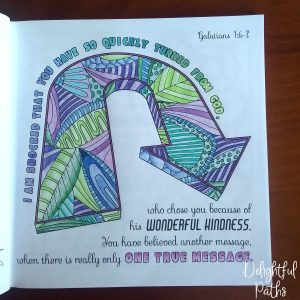 Galatians 1-6-7 Coloring Book for Adults DelightfulPaths