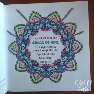 Galatians 2-21 Coloring Book for Adults DelightfulPaths