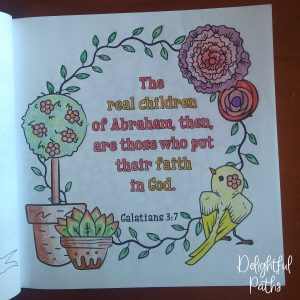 Galatians 3-7 Coloring Book for Adults DelightfulPaths