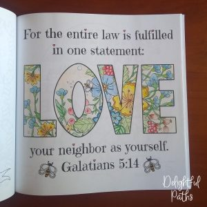 Galatians 5-14 Coloring Book for Adults DelightfulPaths