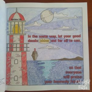 Sermon on the Mount Bible Coloring Book DelightfulPaths Mat 5-16