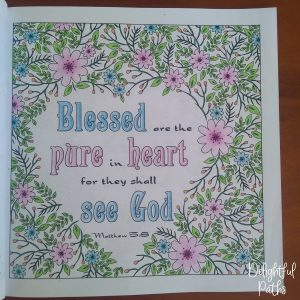 Sermon on the Mount Bible Coloring Book DelightfulPaths Mat 5-8